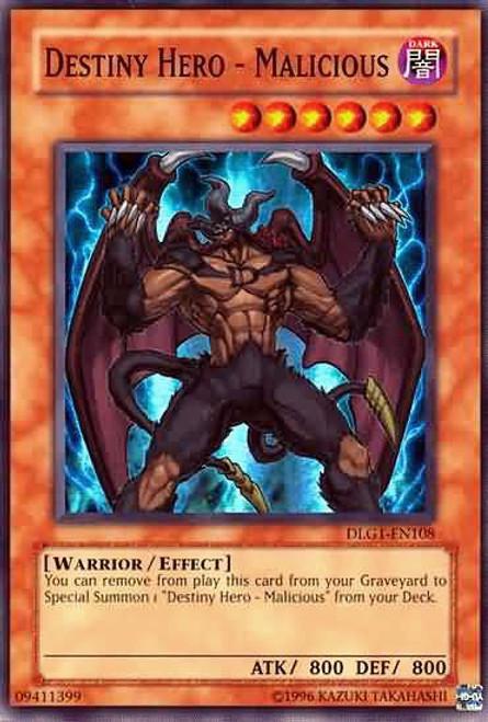 YuGiOh Dark Legends Super Rare Destiny Hero - Malicious DLG1-EN108