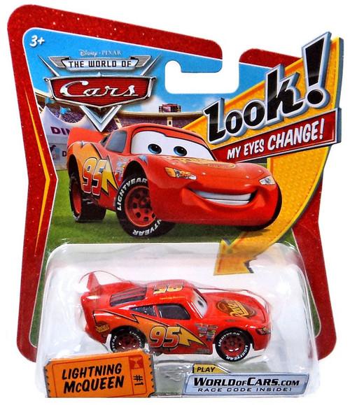 Disney / Pixar Cars The World of Cars Lenticular Eyes Series 1 Lightning McQueen Diecast Car