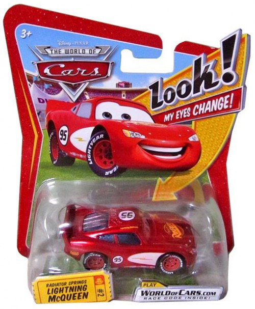 Disney / Pixar Cars The World of Cars Lenticular Eyes Series 1 Radiator Springs Lightning McQueen Diecast Car