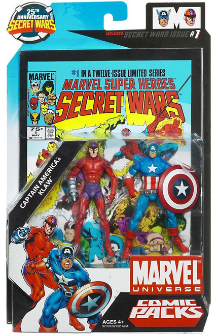 Marvel Universe Captain America & Klaw Action Figure 2-Pack #1
