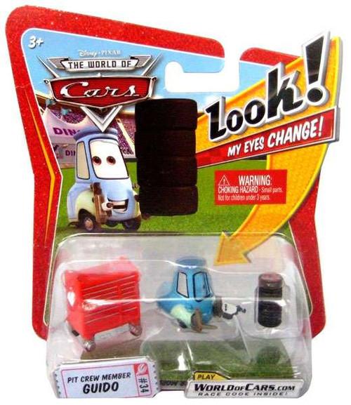 Disney / Pixar Cars The World of Cars Lenticular Eyes Series 1 Pit Crew Guido Diecast Car