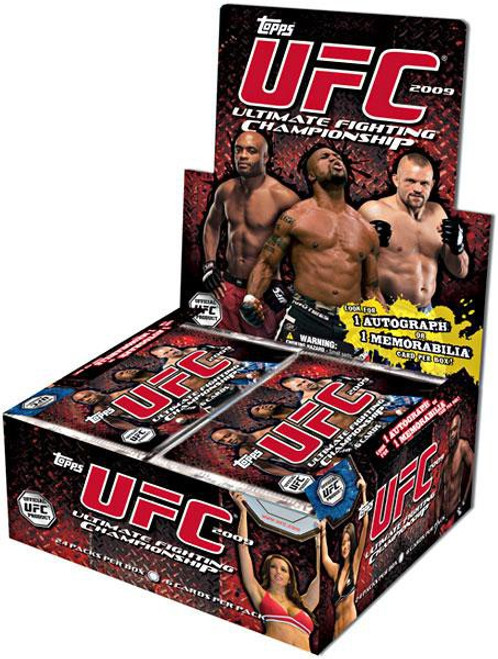 UFC Ultimate Fighting Championship 2009 Round 2 Trading Card RETAIL Box [24 Packs, 1 Autograph & 1 Memorabilia Card!]