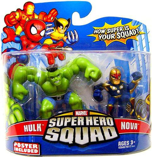 Marvel Super Hero Squad Series 15 Hulk & Nova 3-Inch Mini Figure 2-Pack