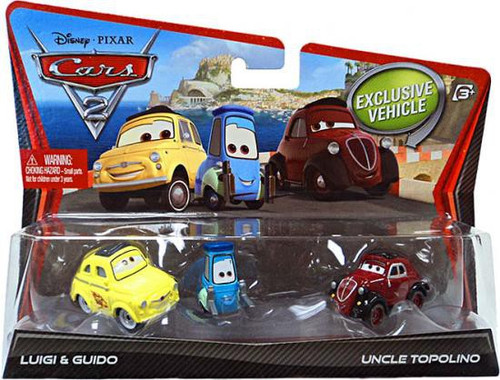 Disney / Pixar Cars Cars 2 Luigi, Guido & Uncle Topolino Diecast Car 2-Pack