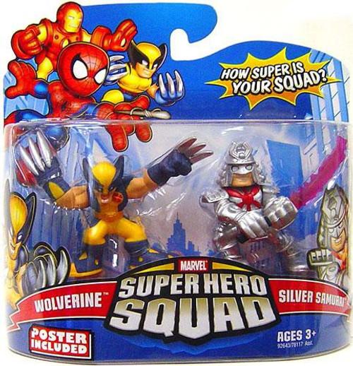 Marvel Super Hero Squad Series 15 Wolverine & Samurai 3-Inch Mini Figure 2-Pack