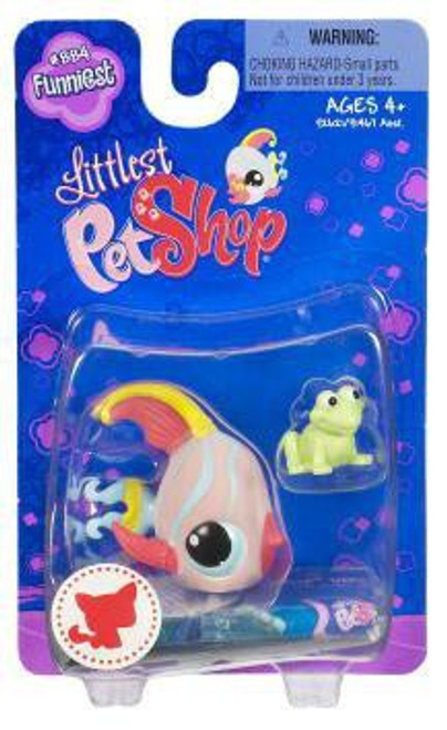 Littlest Pet Shop Angelfish Figure #884 [Frog Toy]