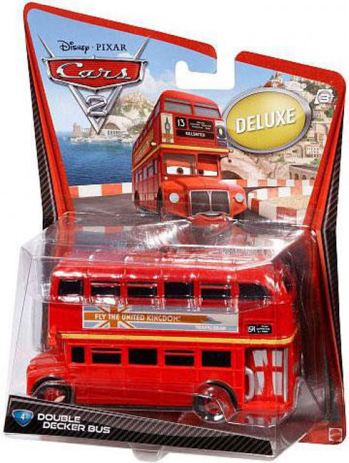 Disney / Pixar Cars Cars 2 Deluxe Oversized Double Decker Bus Diecast Car #4