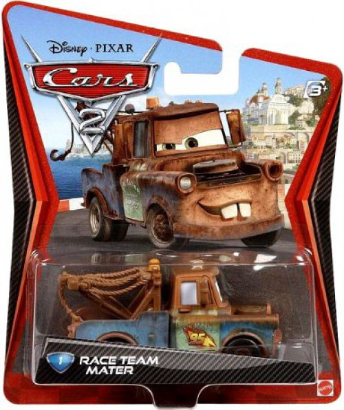 Disney / Pixar Cars Cars 2 Main Series Race Team Mater Diecast Car