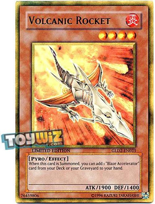 YuGiOh Gold Series 2 2009 Gold Rare Volcanic Rocket GLD2-EN023