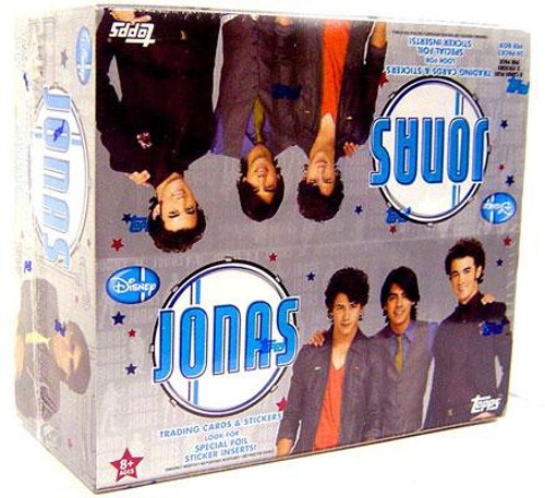 Disney Jonas Brothers Trading Card Sticker Box