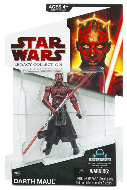 Star Wars The Clone Wars 2009 Legacy Collection Droid Factory Darth Maul Action Figure BD05 [Evolution]