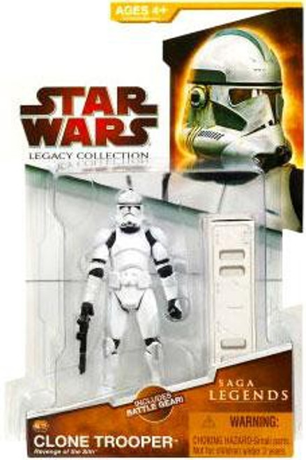 Star Wars Revenge of the Sith 2009 Legacy Collection Saga Legends Clone Trooper Action Figure SL12 [Revenge of the Sith]
