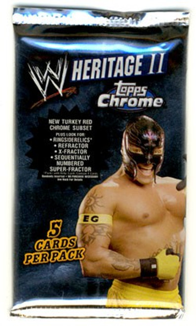 WWE Wrestling Topps Chrome 2008 WWE Heritage Series 2 Trading Card Pack