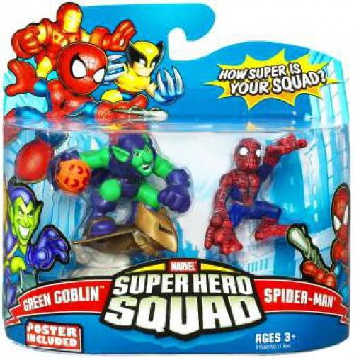Marvel Super Hero Squad Series 14 Spider-Man & Green Goblin 3-Inch Mini Figure 2-Pack
