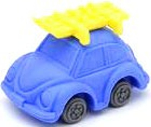 Iwako Beetle Car Eraser [Blue Car & Yellow Skis]