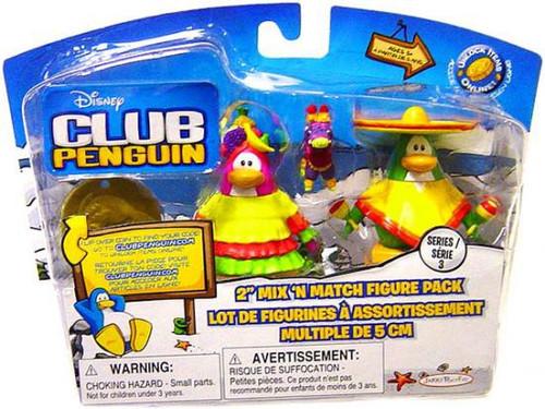Club Penguin Mix 'N Match Series 3 Sombrero Guy & Fiesta Girl Mini Figure Set