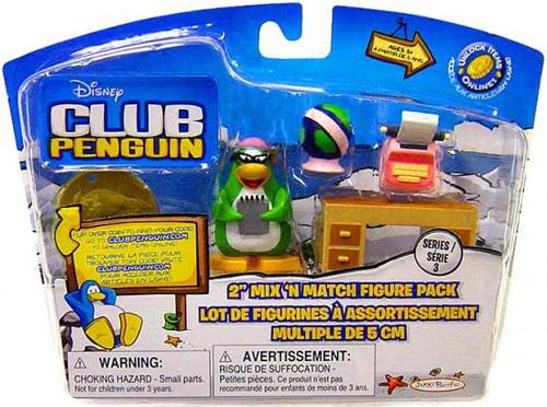 Club Penguin Mix 'N Match Series 3 Aunt Arctic Mini Figure Set