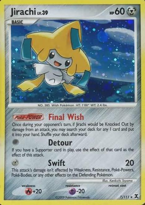 Pokemon Platinum Rising Rivals Rare Holo Jirachi #7