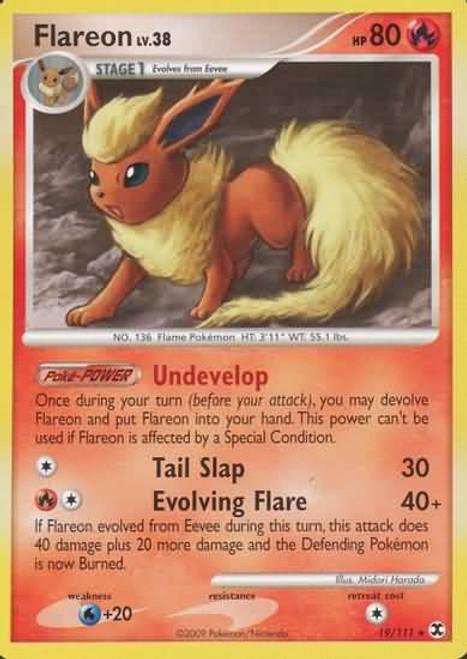 Pokemon Platinum Rising Rivals Rare Flareon #19