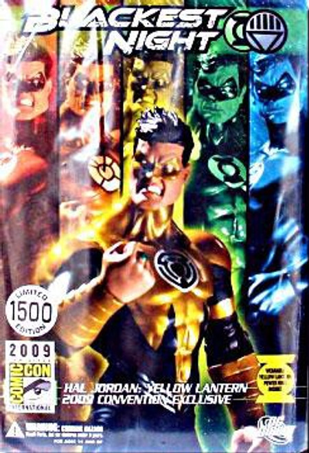 DC Green Lantern Blackest Night Hal Jordan Yellow Lantern Exclusive Action Figure
