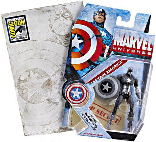 Marvel Universe Captain America Exclusive Action Figure [Gray Scale]
