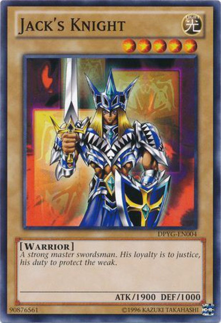 YuGiOh Duelist Pack Yugi Common Jack's Knight DPYG-EN004