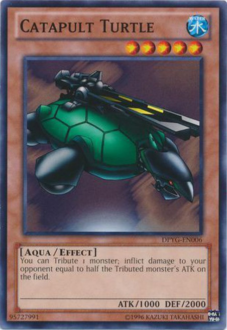 YuGiOh Duelist Pack Yugi Common Catapult Turtle DPYG-EN006