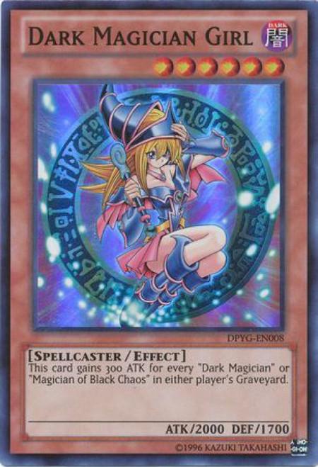 YuGiOh Duelist Pack Yugi Super Rare Dark Magician Girl DPYG-EN008