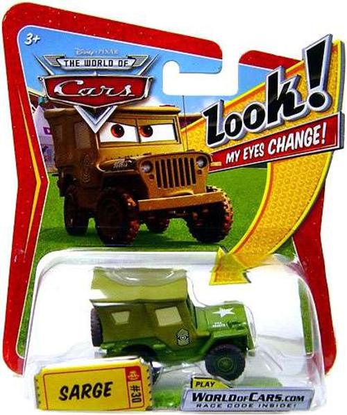 Disney / Pixar Cars The World of Cars Lenticular Eyes Series 1 Sarge Diecast Car