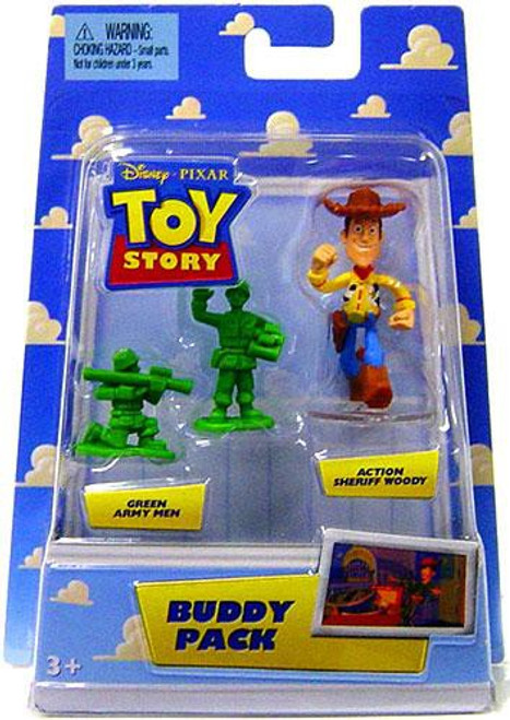 Toy Story Buddy Pack Green Army Men & Action Sheriff Woody Mini Figure 2-Pack
