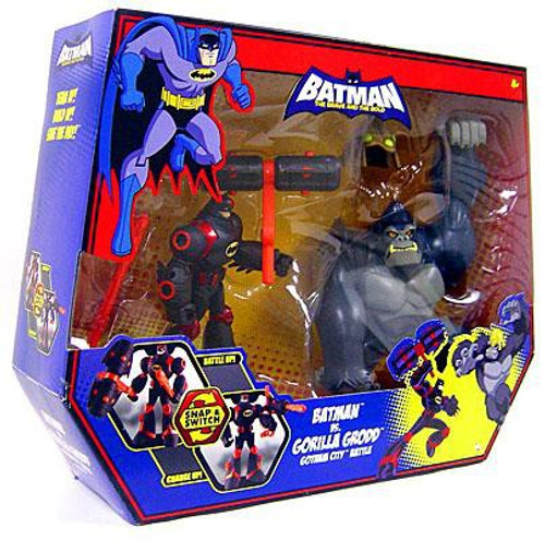 The Brave and the Bold Batman Vs. Gorilla Grodd Gotham City Battle Action Figure Set