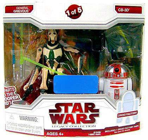 Star Wars Expanded Universe 2009 Legacy Collection Droid Factory General Grievous & CB-3D Exclusive Action Figure 2-Pack