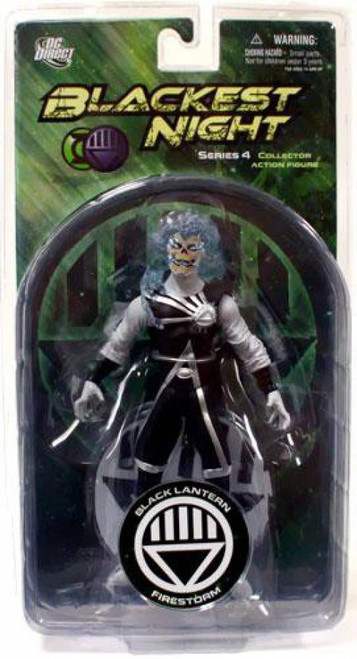 DC Green Lantern Blackest Night Series 4 Black Lantern Firestorm Action Figure