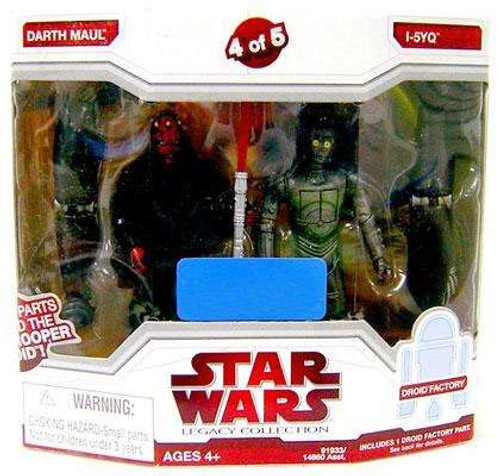Star Wars Attack of the Clones 2009 Legacy Collection Droid Factory Darth Maul & I-5YQ Exclusive Action Figure 2-Pack