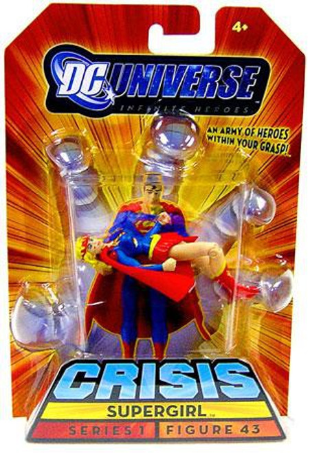 DC Universe Crisis Infinite Heroes Series 1 Supergirl Exclusive Action Figure #43 [Battle Damaged]