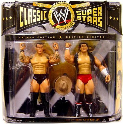 WWE Wrestling Classic Superstars Randy Orton & Cowboy Bob Orton Jr. Action Figure 2-Pack