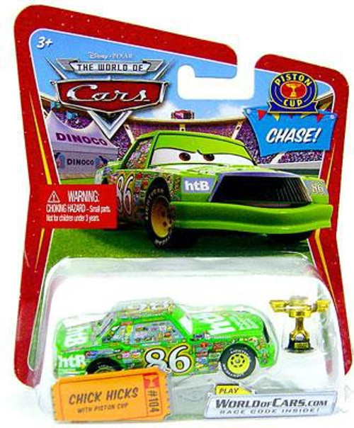 Disney / Pixar Cars The World of Cars Series 1 Chick Hicks with Piston Cup Trophy Diecast Car
