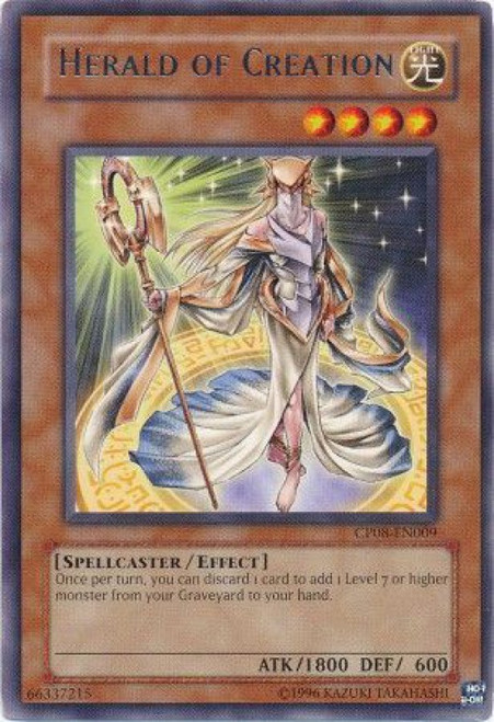 YuGiOh Champion Pack: Game 8 Rare Herald of Creation CP08-EN009