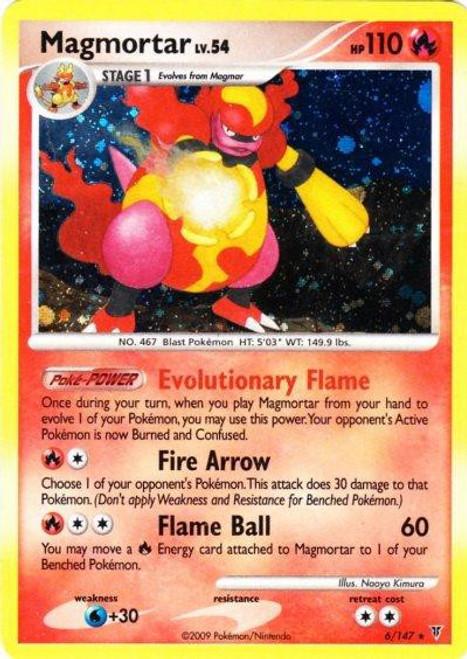 Pokemon Platinum Supreme Victors Rare Holo Magmortar #6