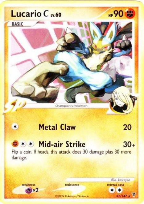Pokemon Platinum Supreme Victors Rare Lucario C #31