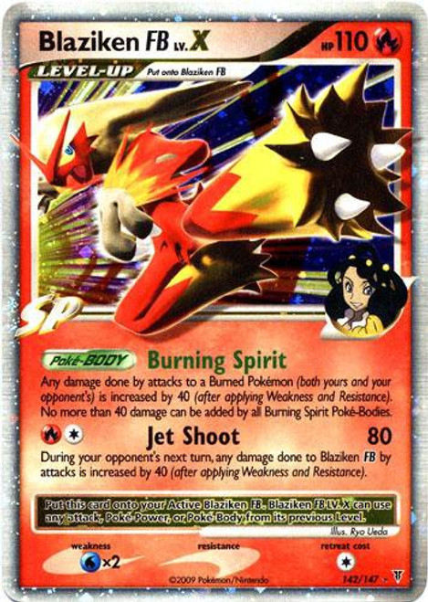 Pokemon Platinum Supreme Victors Ultra Rare Blaziken FB LV.X #142