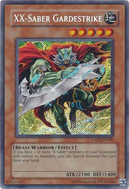 YuGiOh Ancient Prophecy Secret Rare XX-Saber Gardestrike ANPR-EN000