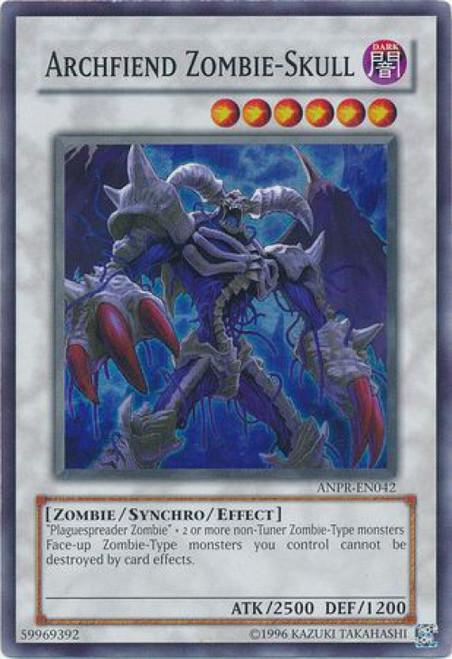 YuGiOh Ancient Prophecy Super Rare Archfiend Zombie-Skull ANPR-EN042