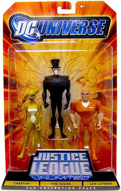 DC Universe Justice League Unlimited Fan Collection Cheetah, The Shade & Lex Luthor Action Figures