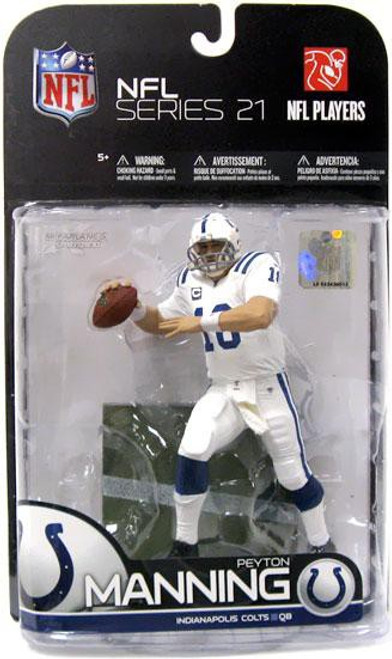 McFarlane Toys NFL Indianapolis Colts Sports Picks Series 21 Peyton Manning Action Figure [White Jersey Variant]