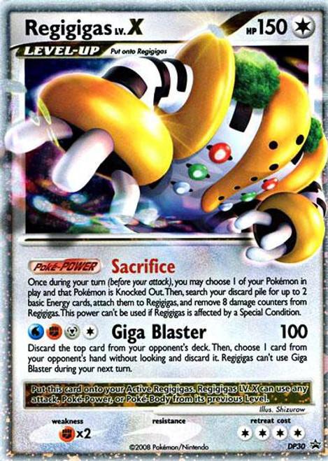 Pokemon Trading Card Game Promo Ultra Rare Regigas Lv.X DP30