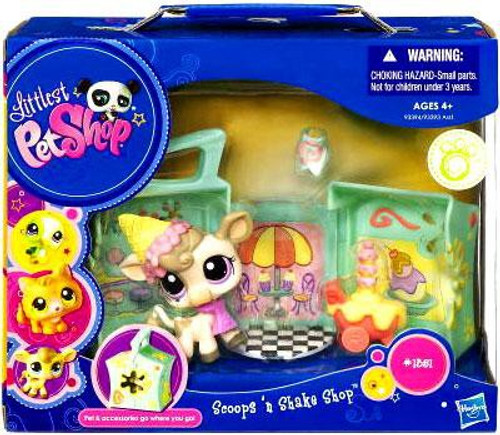 Littlest Pet Shop Pets on the Go Scoops N' Shake Shop Playset #1351 [Cow]