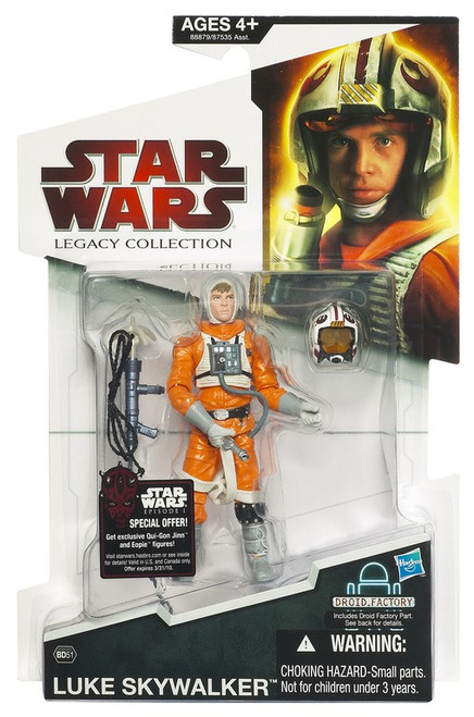 Star Wars The Empire Strikes Back 2009 Legacy Collection Droid Factory Luke Action Figure BD51 [Snowspeeder Outfit]