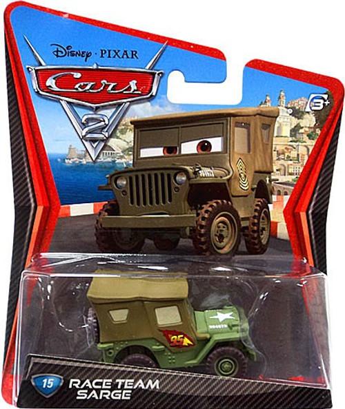 Disney / Pixar Cars Cars 2 Main Series Race Team Sarge Diecast Car