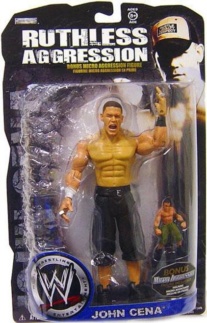 WWE Wrestling Ruthless Aggression John Cena Action Figure [With Bonus Micro Figure]